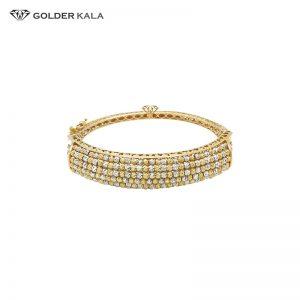 دستبند طلا قفل دار مدل ساچمه ای کد 743