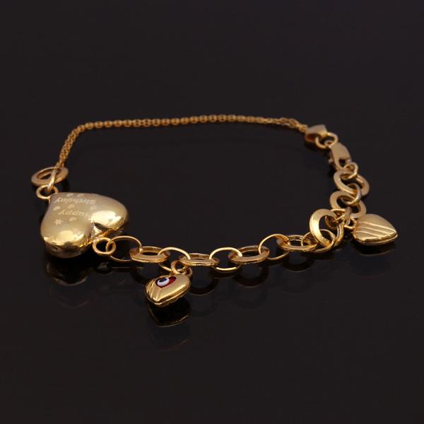 دستبند طلا اسپرت با طرح قلب