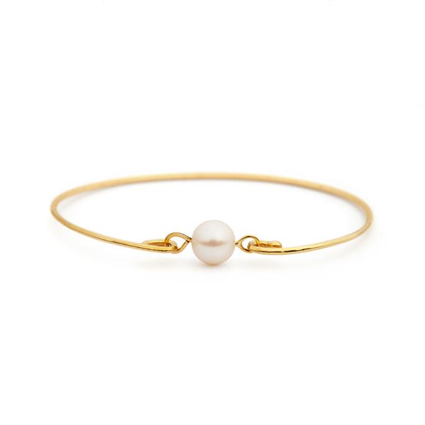 دستبند طلا اسپرت با مروارید