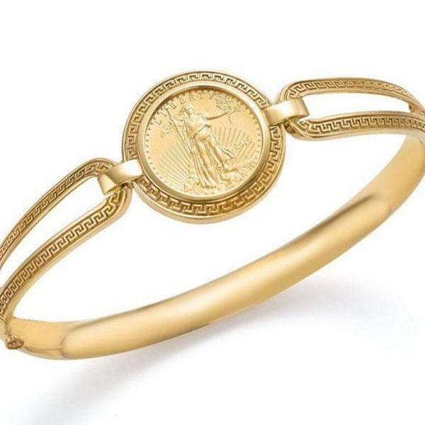 طرح ساده دستبند های سکه ای