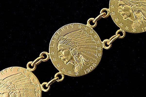 دستبند طلا سکه ای