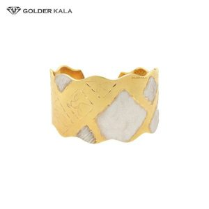 دستبند تک پوش پهن طلا کد 734