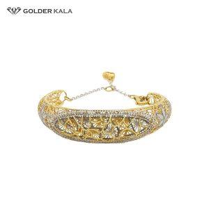 دستبند طلای زنانه ترکیبی کد 782