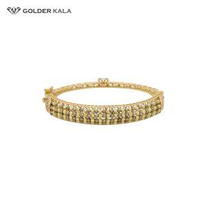 دستبند طلا نگین دار کد 809