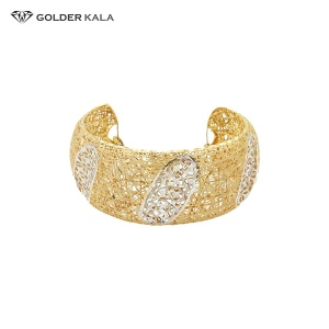 فروش دستبند پهن زنانه هندی | تک پوش طلا کد 778