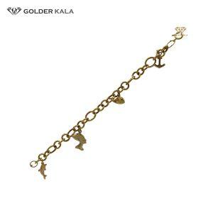 دستبند طلا آویزدار کد 1601