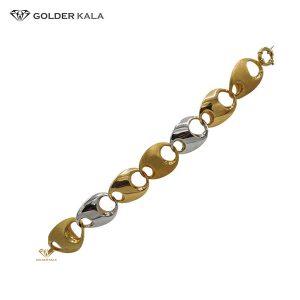 دستبند طلا زنجیری قفل دار کد 1568
