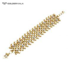 دستبند طلا لاکچری ساچمه ای کد 1558