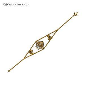 دستبند طلا طرح قلب دار کد 1624