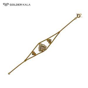دستبند طلا طرح قلب کد 1634