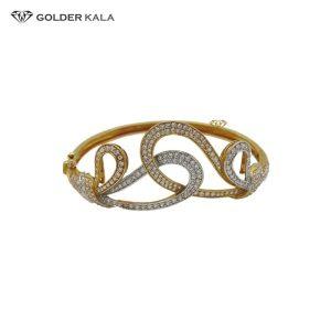 دستبند طلا نگین دار مدل 1578