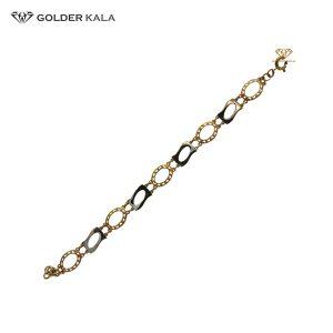دستبند طلا بیضی کد 1840
