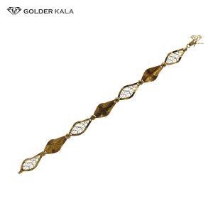 دستبند طلا لوزی کد 1636