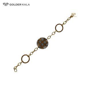 دستبند طلا مدل سکه ای کد 1738