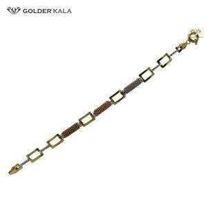 دستبند طلا مربعی کد 1743