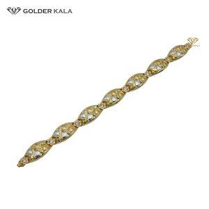 دستبند طلا گلدار کد 1866