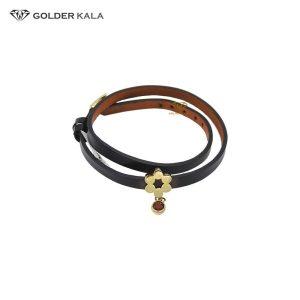 دستبند طلا زنانه چرم مدل 1908