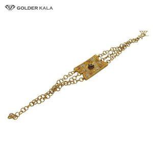 دستبند طلا زنجيری زنانه مدل 1955