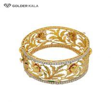 دستبند طلا پهن رویال مدل 2010