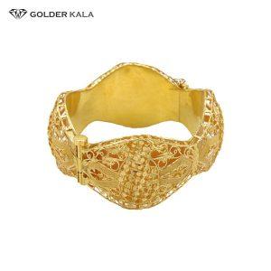 قیمت تک پوش طلا کد 2006 فروش دستبند طلا پهن زنانه