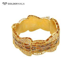دستبند طلا پهن زنانه مدل 2009