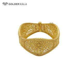 دستبند طلا پهن مدل 2001