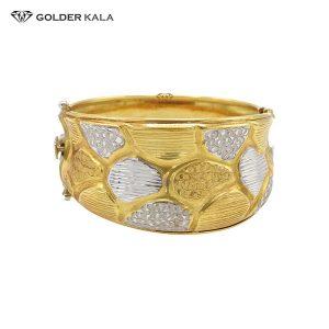 دستبند طلای پهن مدل 2194