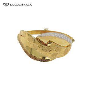 دستبند طلای پهن مدل 2195
