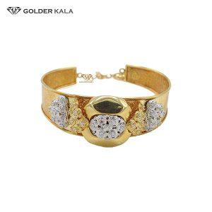 دستبند طلای پهن مدل 2196