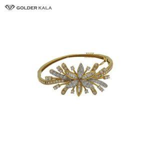 دستبند طلا النگویی طرح گل مدل 2085