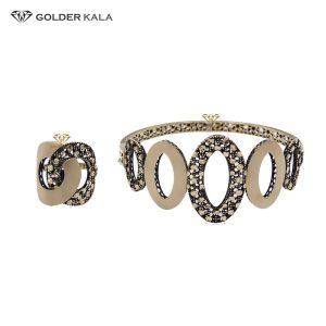 دستبند طلا النگویی مدل 2139