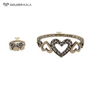 دستبند طلا النگویی مدل 2140