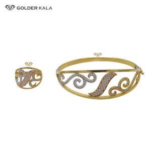 دستبند طلا همراه با انگشتر کد 2156