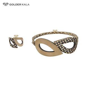 دستبند طلا همراه با انگشتر کد 2157