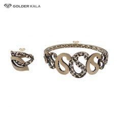دستبند طلا همراه با انگشتر کد 2158