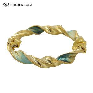 دستبند طلا پهن زنانه مدل 2134