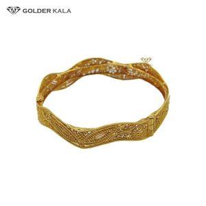 دستبند طلا پهن مدل النگویی کد 2035