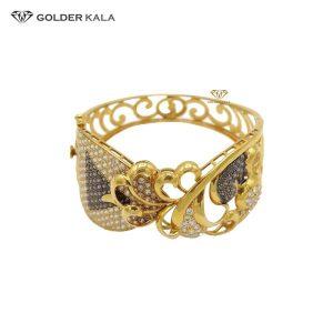دستبند طلا پهن مدل2048