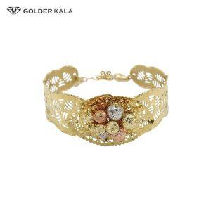 دستبند طلا پهن مدل 2129