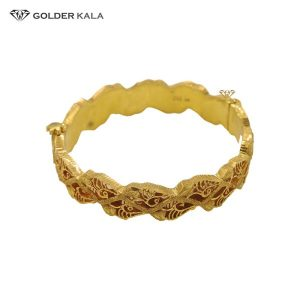 دستبند طلا پهن کد 2050