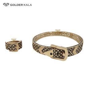 دستبند طلا النگویی با انگشتر مدل 2234