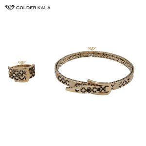 دستبند طلا النگویی با انگشتر مدل 2236