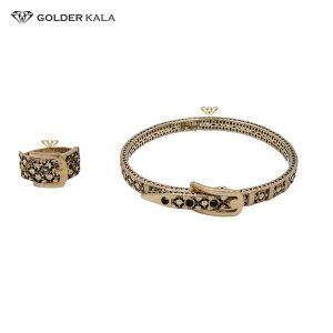 دستبند طلا النگویی با انگشتر مدل 2237