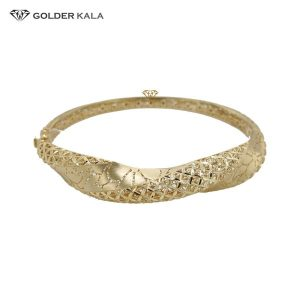 دستبند طلا پهن تکپوش مدل 2508