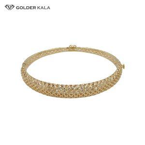 دستبند طلا پهن نازک مدل 2470