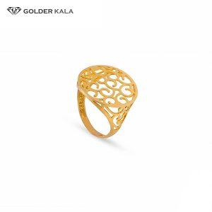 انگشتر طلا طرح دار زنانه