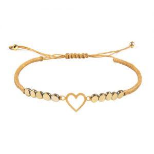 دستبند طلا قلب ۱ گرمی