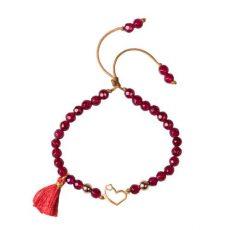 دستبند زنانه 18 عیار طرح قلب
