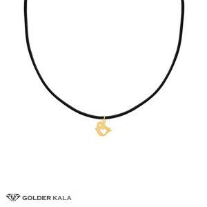 آویز-طلا-طرح-گنجشک-چرمی