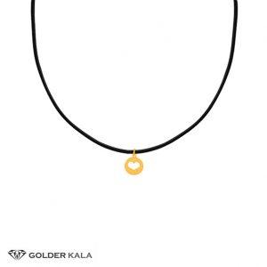 گردنبند-طلا-جدید-چرمی